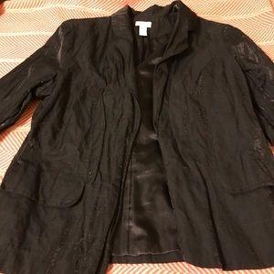 Chico's black open jacket